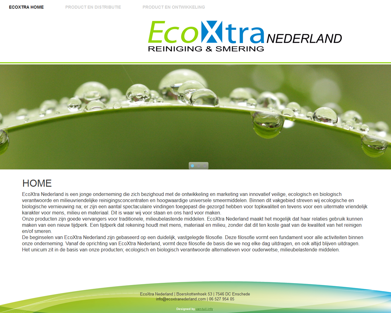 Wordpress site EcoXtra Nederland